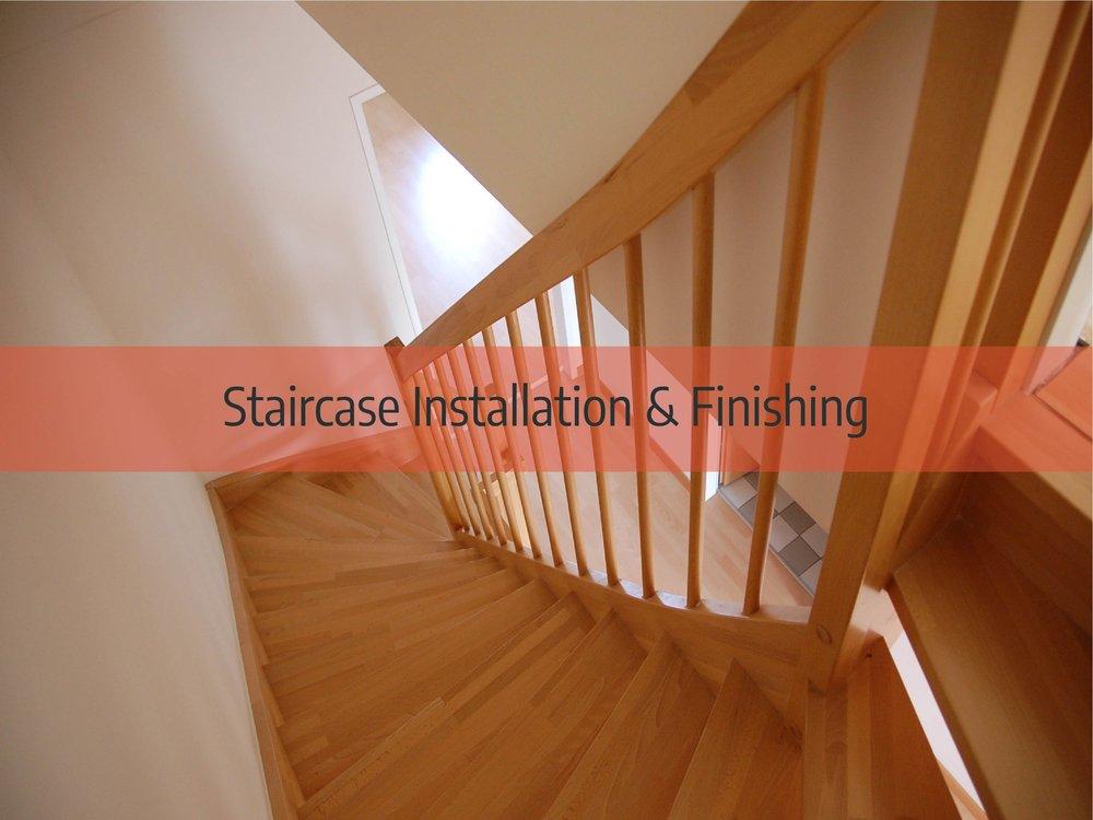 hardwood floor staircase installation and finishing