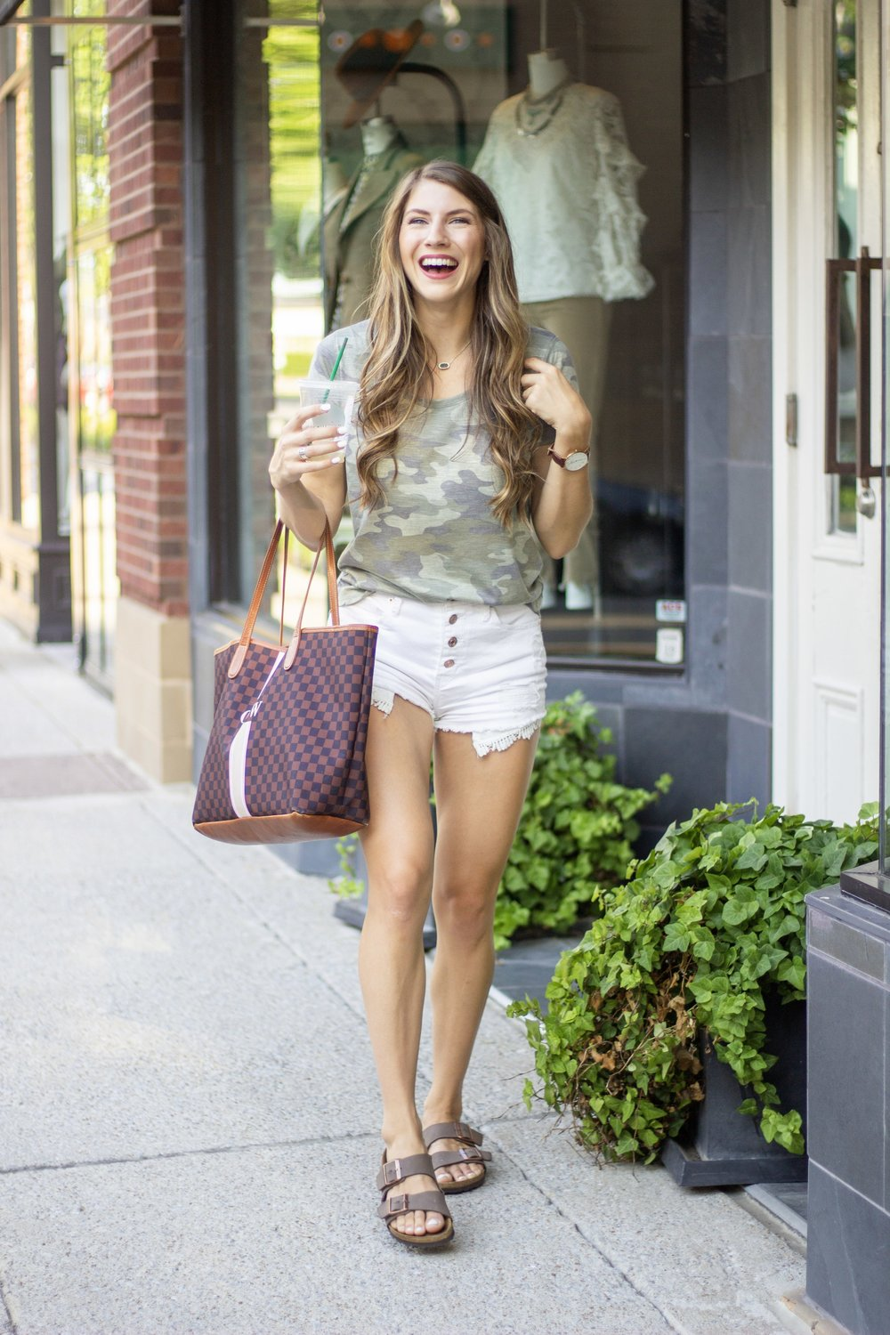 Kohl's back to school camo tee and white shorts.jpg