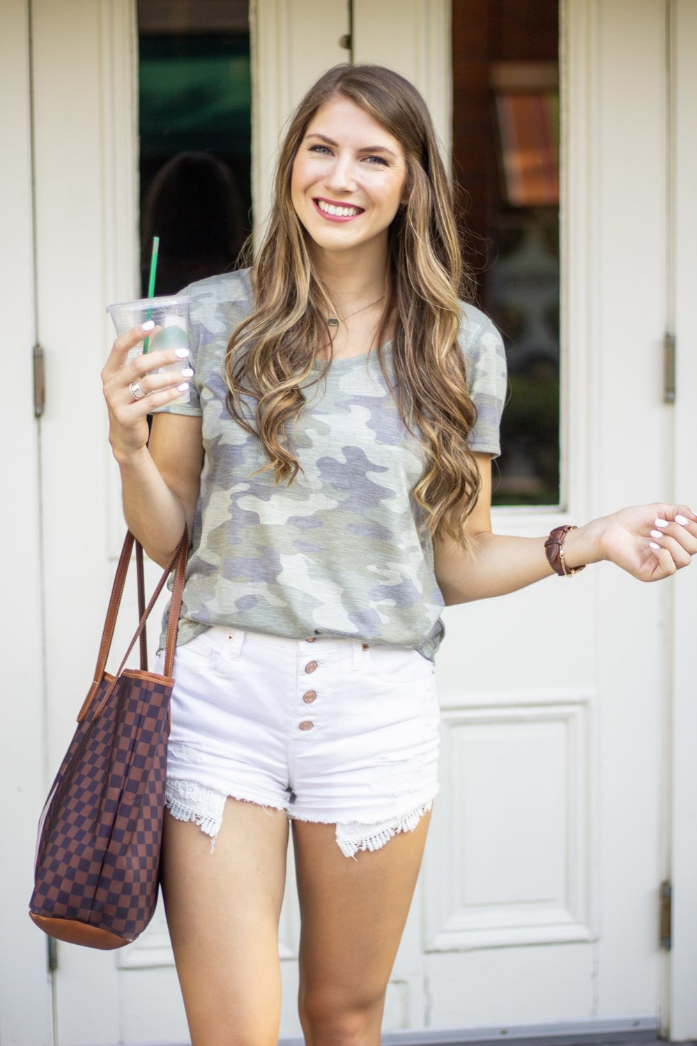 Kohl's Back to School style camo tee and white shorts.jpg