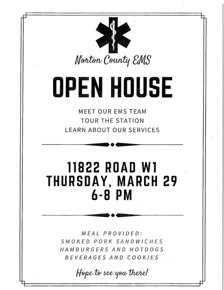 Norton County EMS Open House Flyer