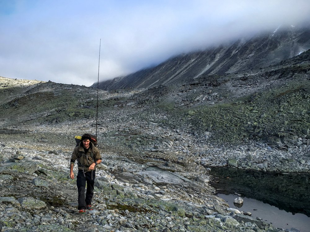 Nogle steder var der kort mellem søerne og fiskestangen fik lov at forblive samlet   Foto: Jesper Hovkjær