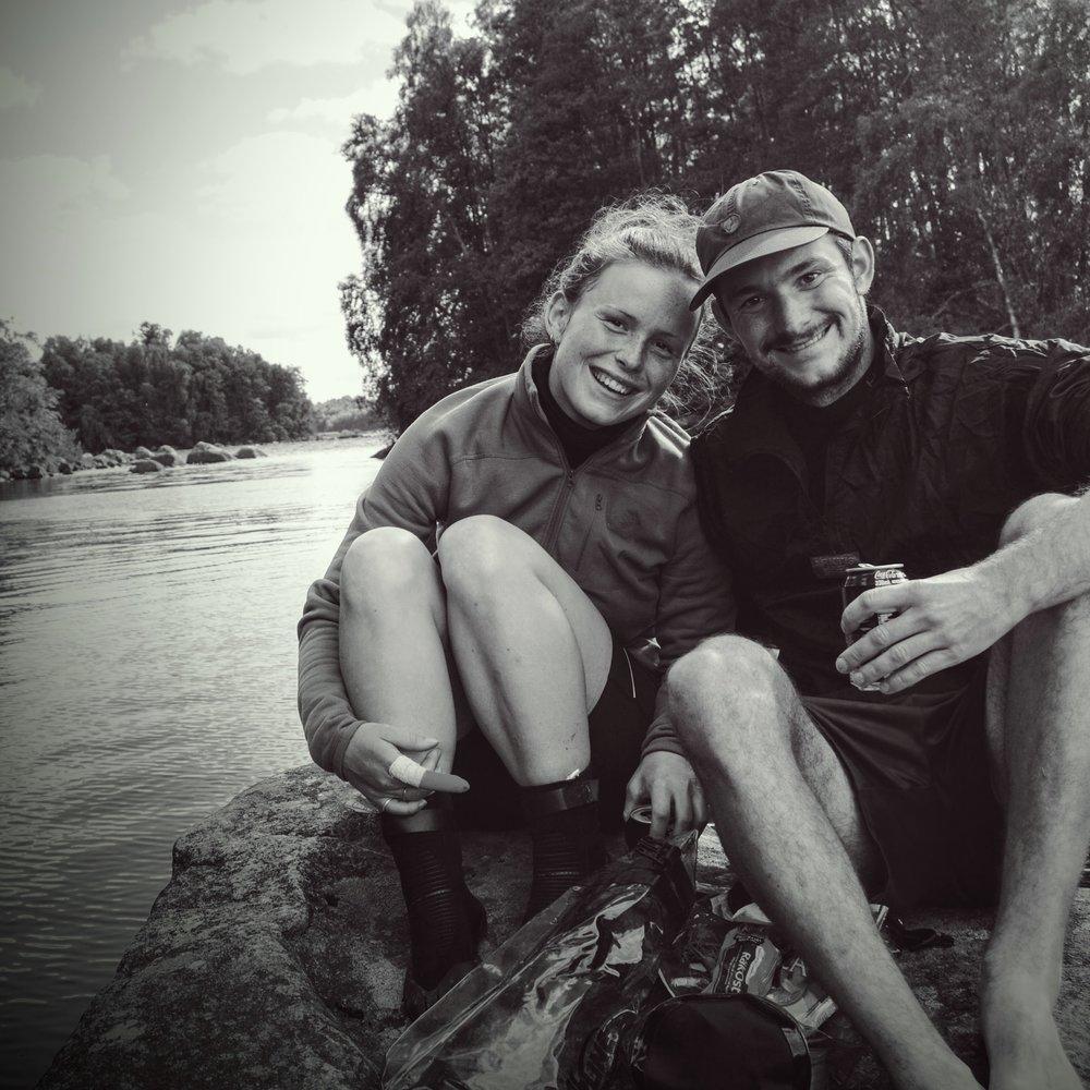 Et sidste farvel fra en sten i en sø