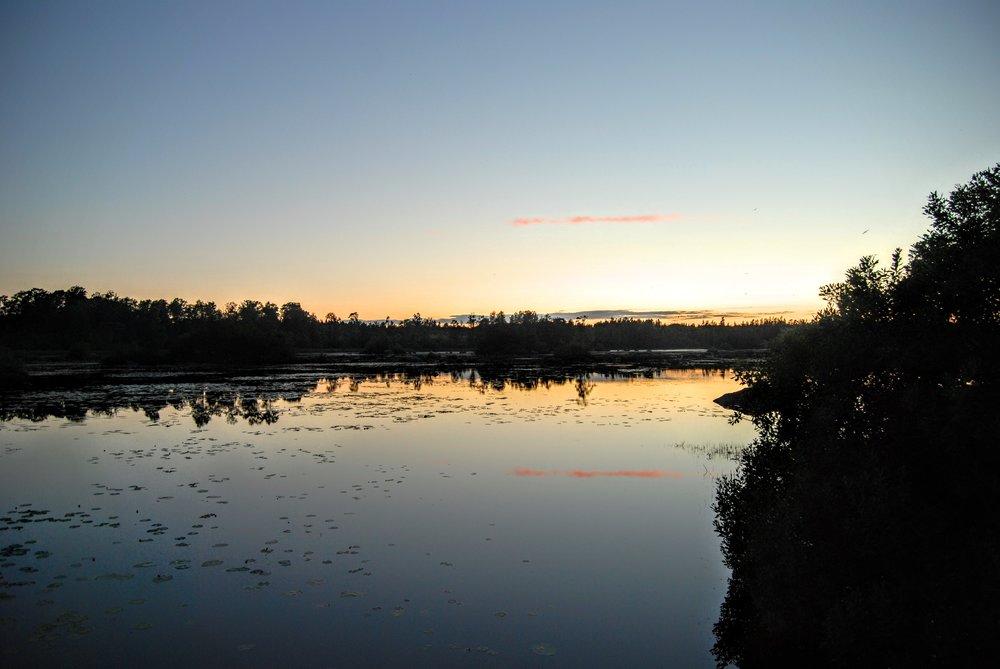 Sidste solnedgang over  Femlingen