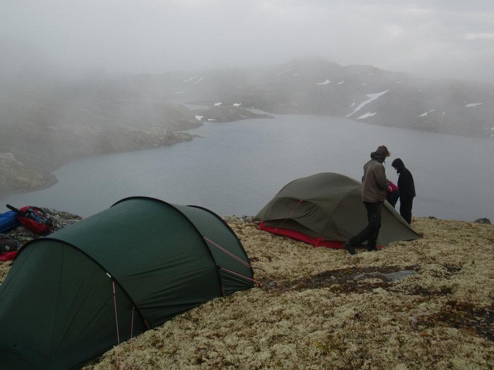 Blød teltseng med masser af mos. Hurrungarne, efterår 2015