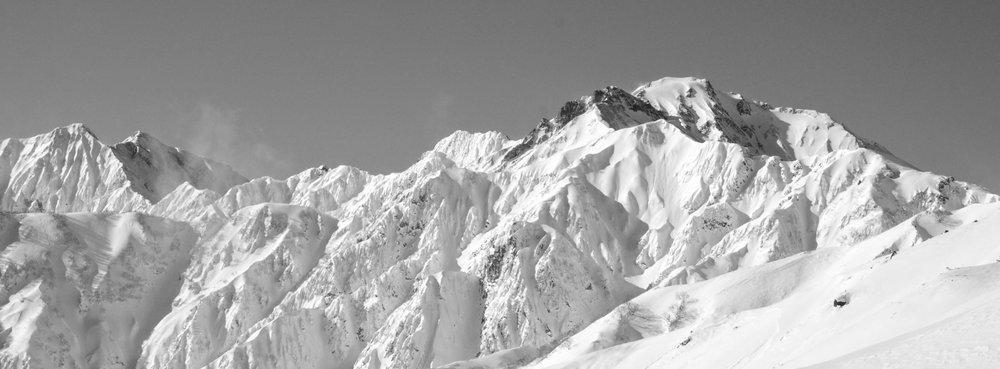 Bjergene ved toppen af Happo-one