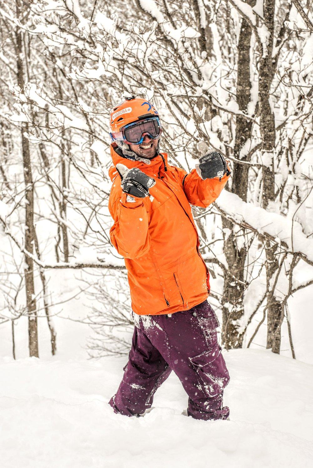 Vores egen franskmand - Quentin Jarc - nyder også sneen