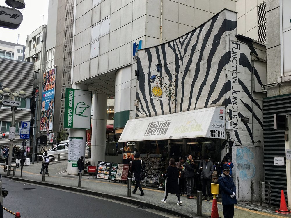 Zebrafacaden gør butikken let genkendelig