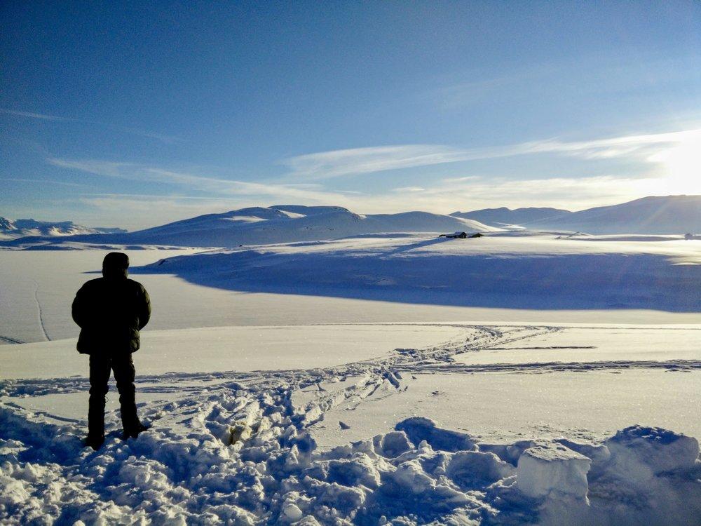 Godmorgen med udsigten over  Steinbusjøen