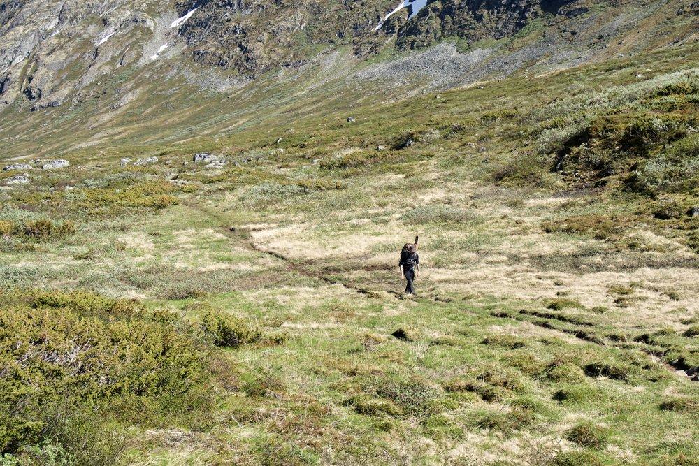 På vej op igennem  Memurudalen