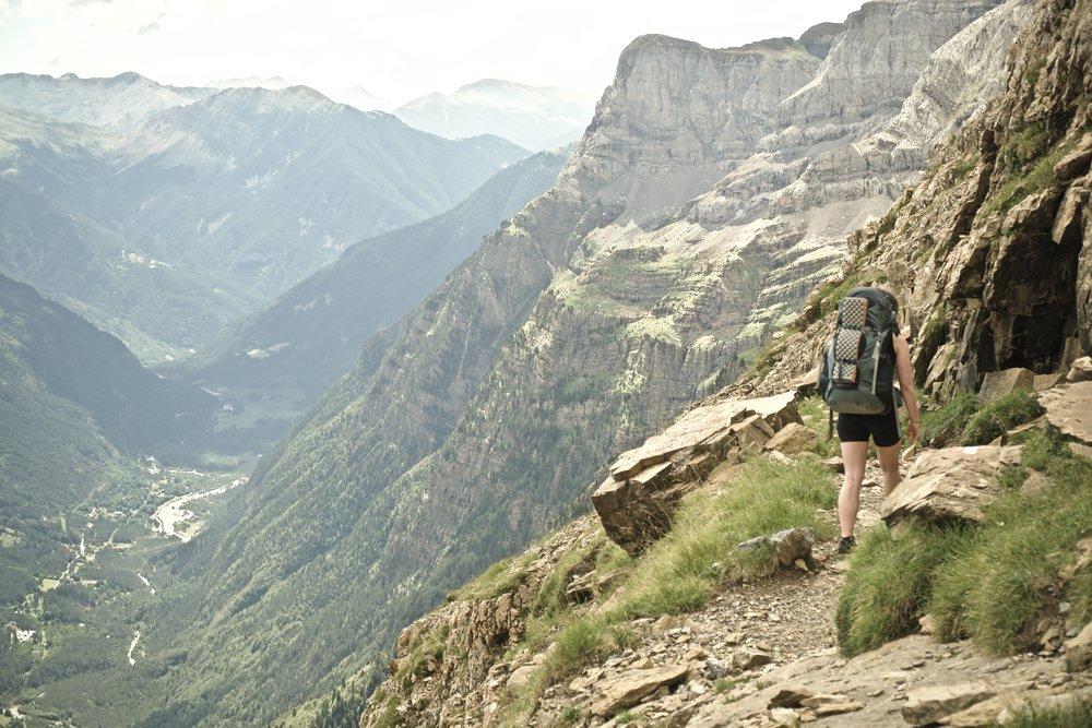 På vej op fra  Piñeta -dalen