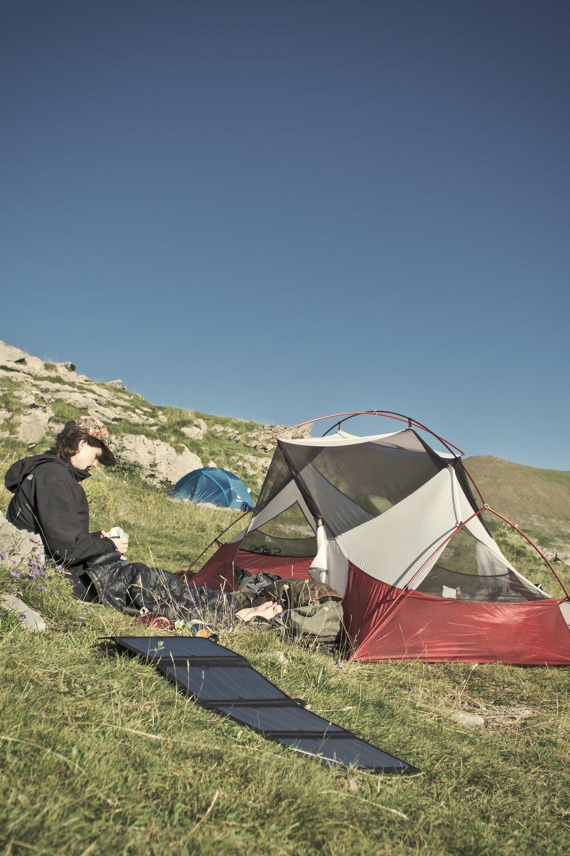 Sidste lejr i højderne - badet i sol