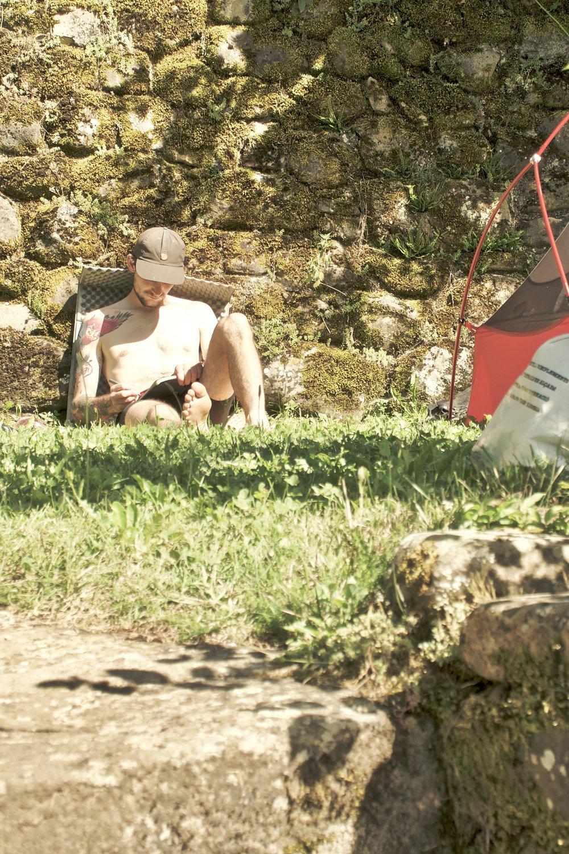 Logbogen opdateres tilbage på campingpladsen