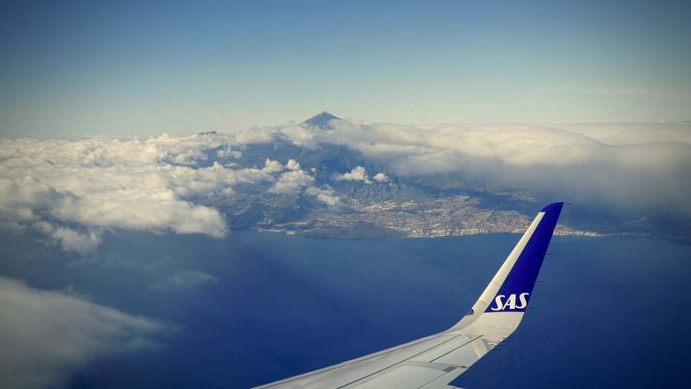 Majstætiske Teide under indflyvningen til Tenerife