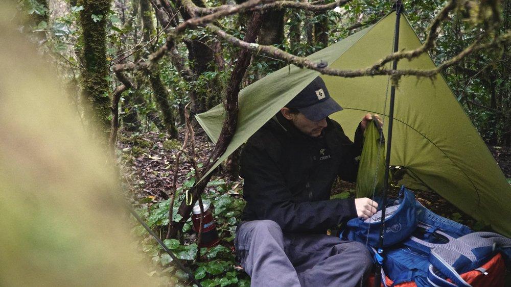 Den første lejrplads