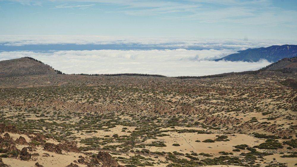 Plateauet for foden af Teide.