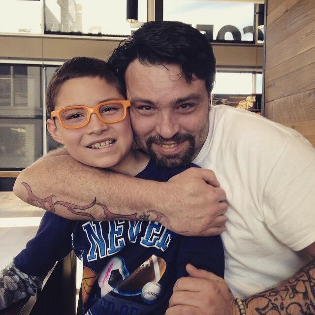 Tim y su hijo
