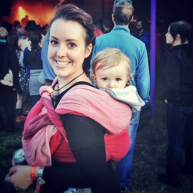 babywearing at green man festival