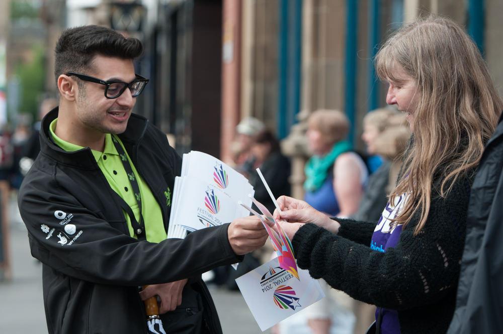 People enjoying Commonwealth Games in Glasgow on 27th July 2014 - Glasgow 2014