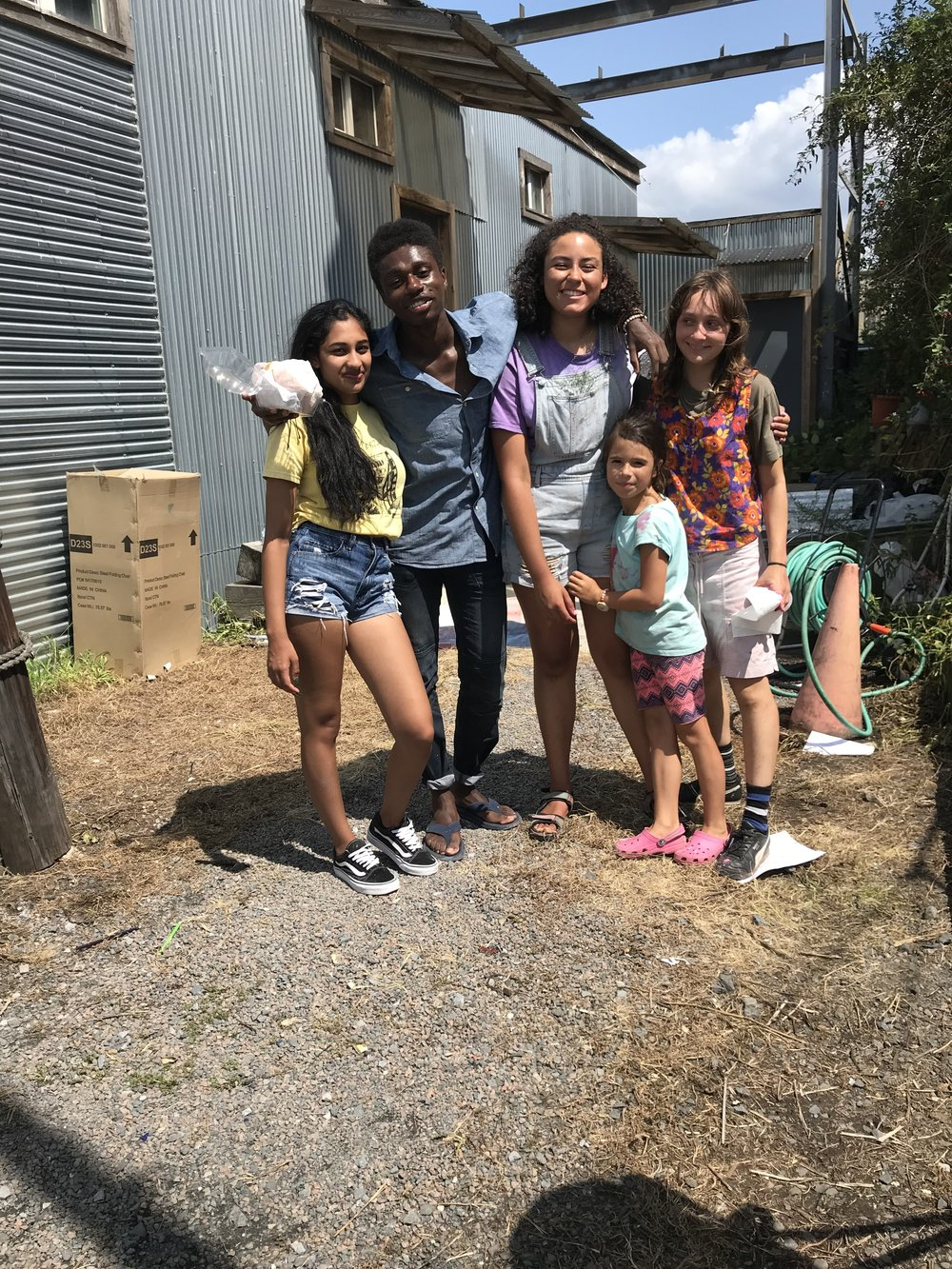 Bianca, Carel, Lilly, Sophie and Gala,  a part of our SEA LEVEL 2018 crew.
