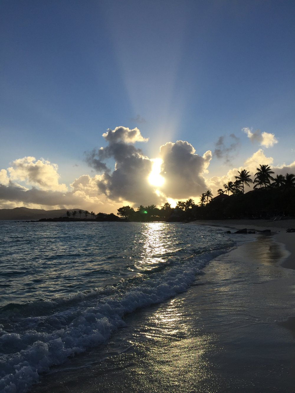 Sapphire Beach at sunrise