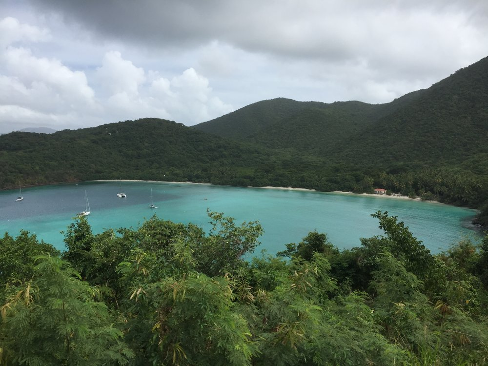 The scenic overlook to Maho Bay