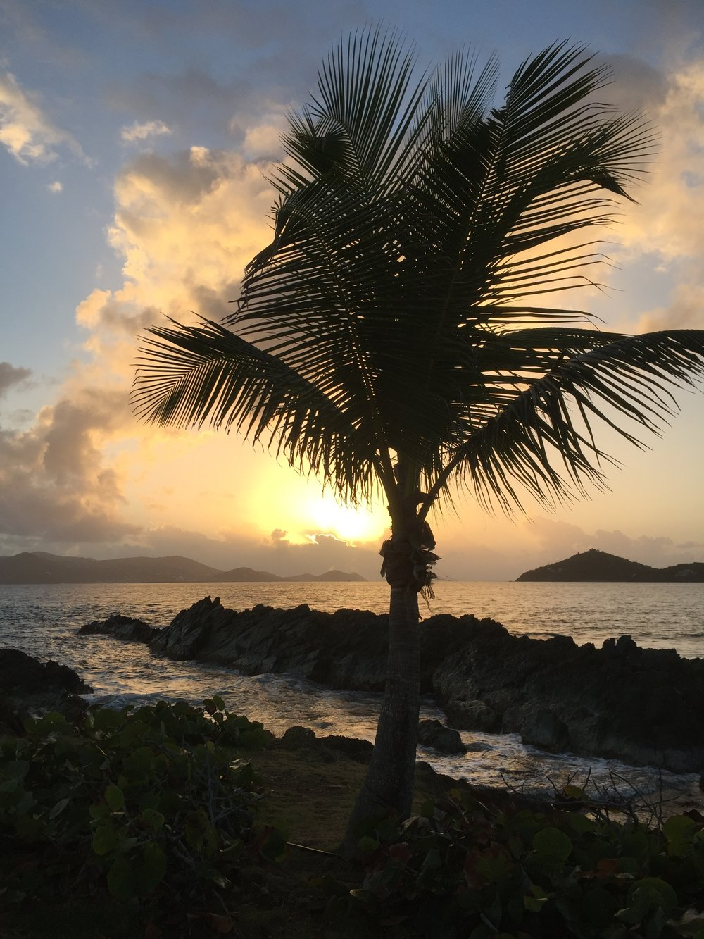 Sunrise from Sapphire Beach looking towards St. John