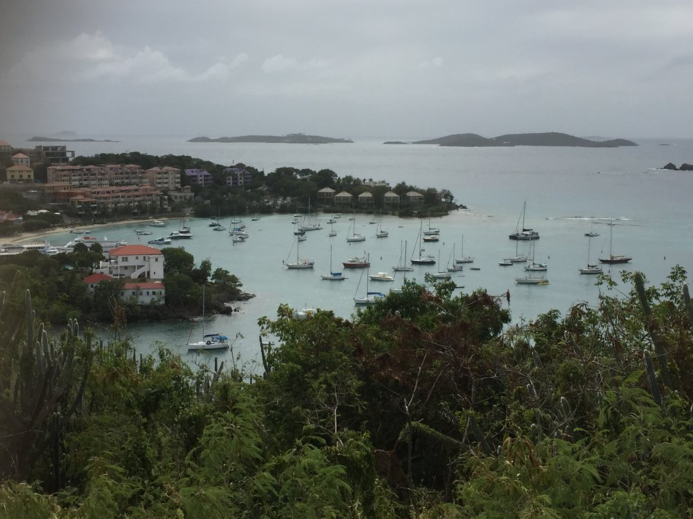 Overlooking Cruz Bay