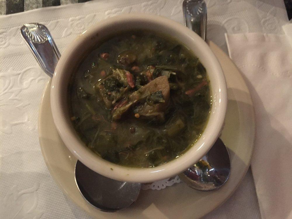 Traditional kalaloo soup (it tastes better than it looks)