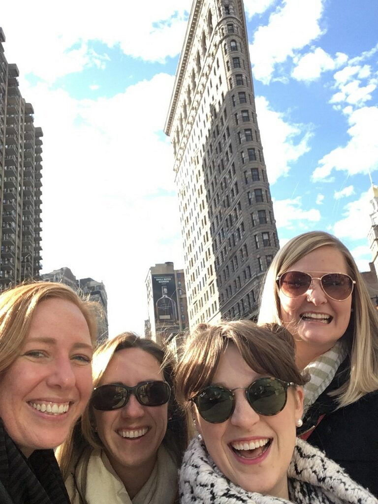 Selfie in front of Flat Iron!