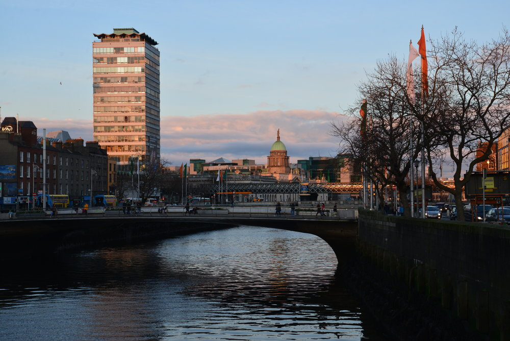 A view from the River Liffey near Temple Bar
