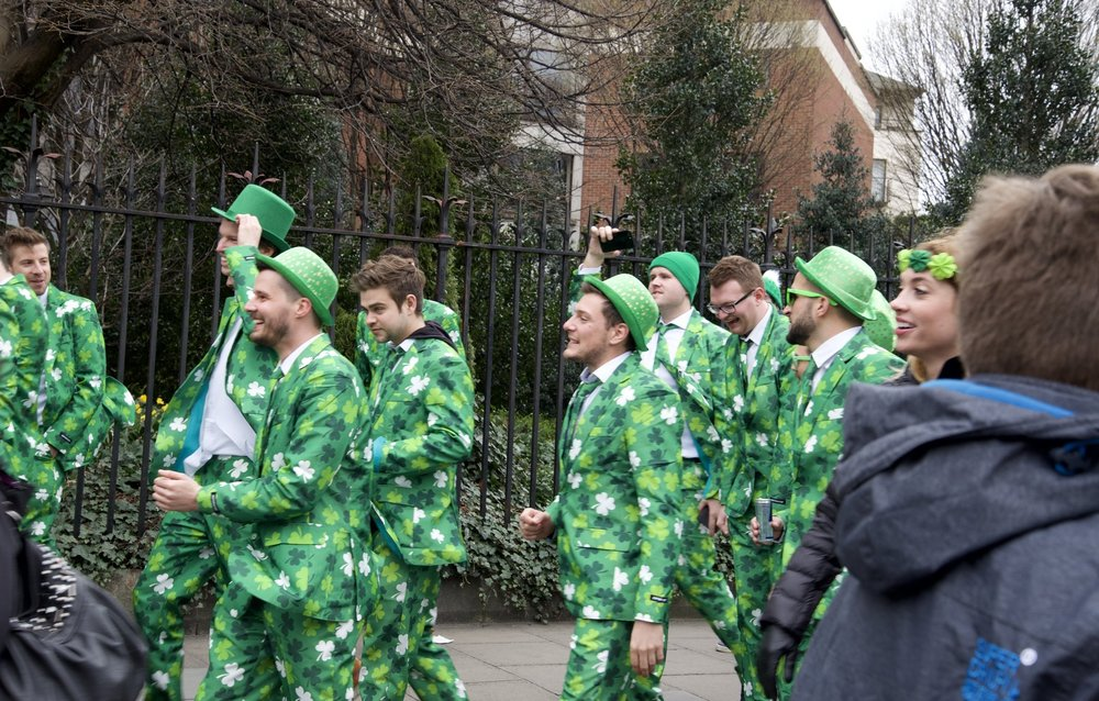 Suits like this abound on St. Patrick's Day