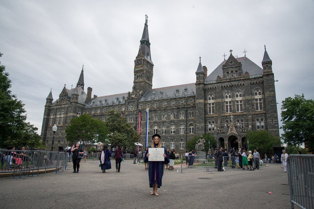 Law School Graduation, also in front of Healy Hall