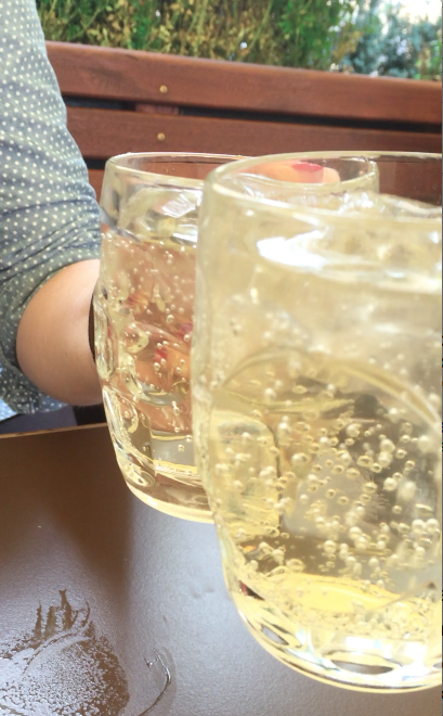 Elderflower soda at a cute cafe in Copenhagen.