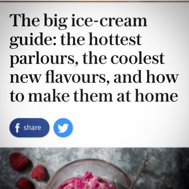 Thanks @telegraph we are thrilled to be in such good company. #weallscreamforicecream  #shepherdsparlour #inthenews #countryliving #icecream #visithay #whattodoinhay