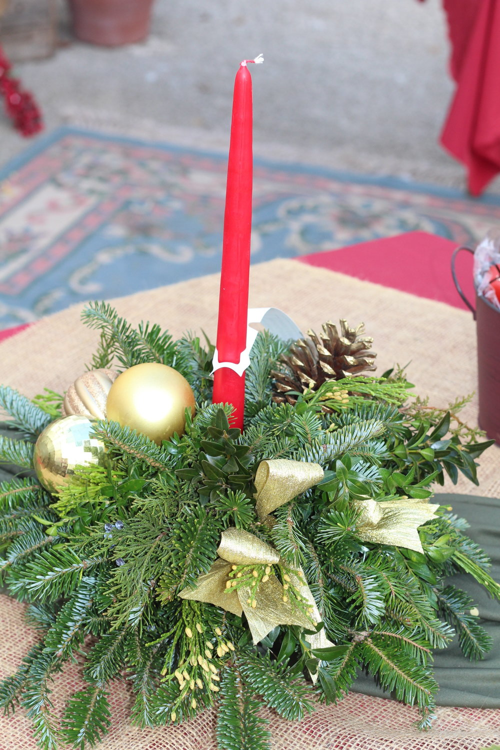 C- Centerpiece with red candle.JPG