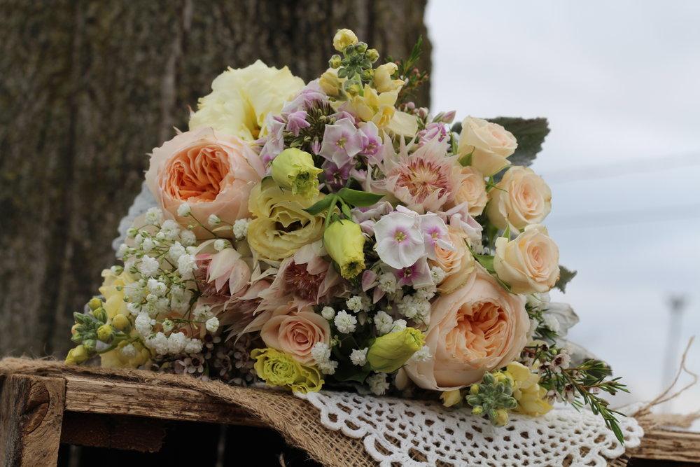 B- Garden roses with garden flowers.JPG