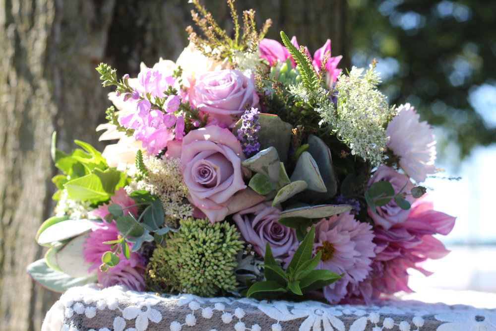 B- Lavender roses and succulents.JPG