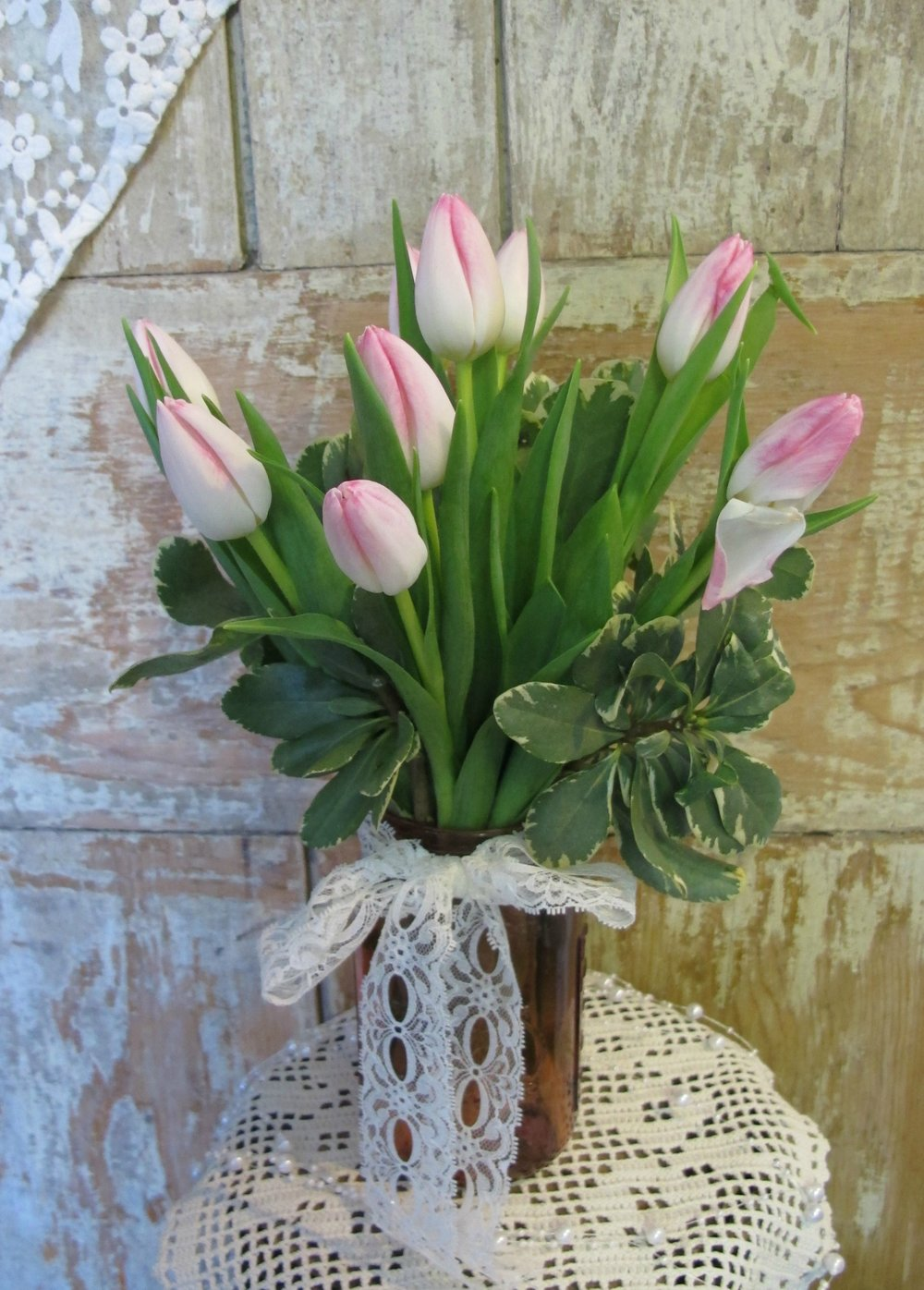 V- Masson jar of pink tulips.jpg