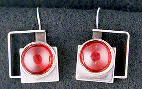 Red African Amber Earrings