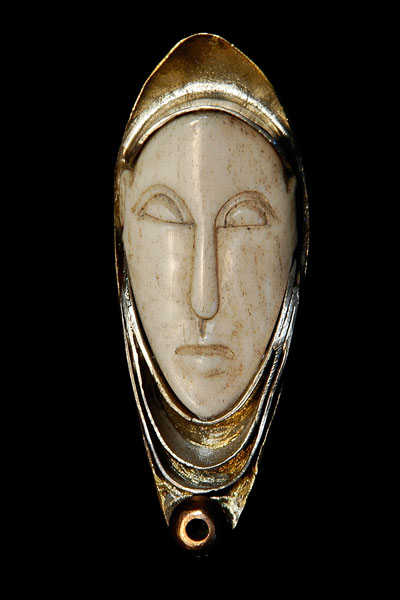 IVORY FACE PENDANT