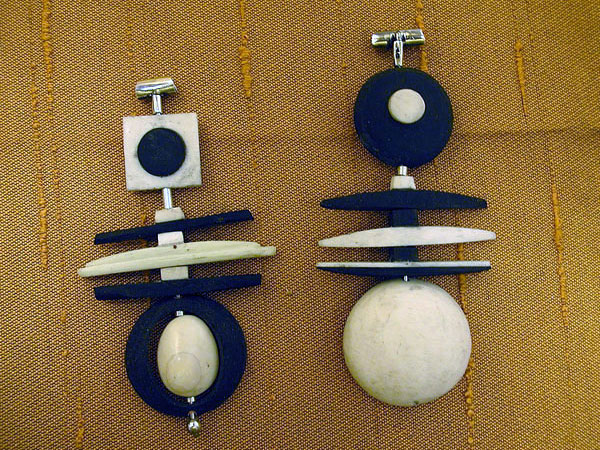 Ebony & Ivory Abstract Pendants