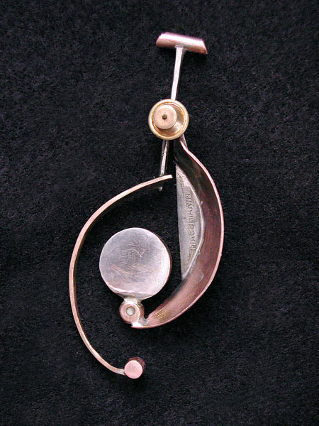 Geometric Spiral Dot Pendant