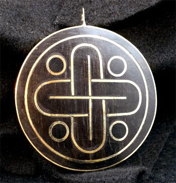 Mayan Motif Pod Pendant