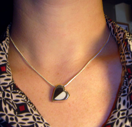 Inlaid Heart Necklace