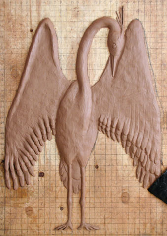 Heron Sculpture Process
