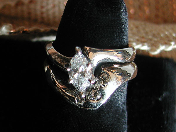 """Pear"" Diamond Ring"