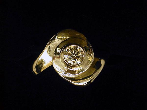 """Spiral"" Diamond Ring"