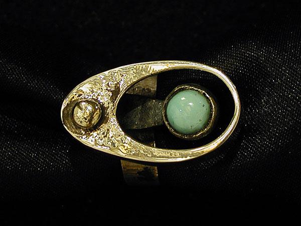 "Turquoise Cabochon ""Egg"" Ring"