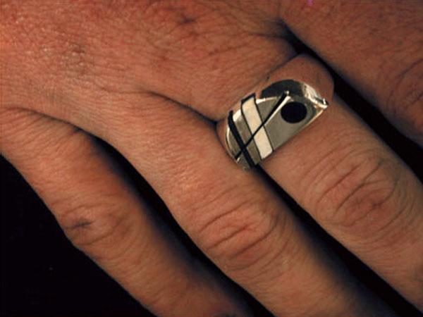 Half Dot Ring