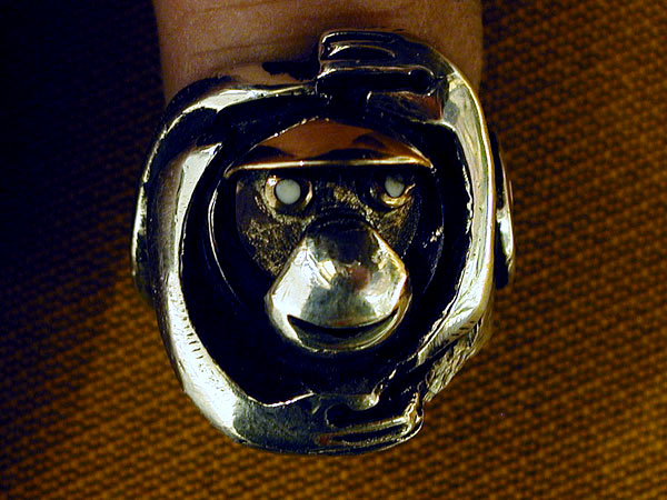 """Hands Monkey"" Ring"